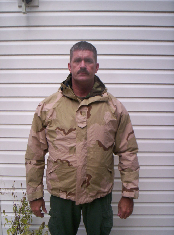 IBA with lightweight goretex jacket