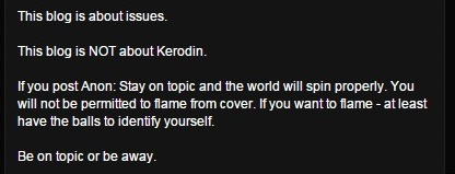 Kerodin's Comment policy1