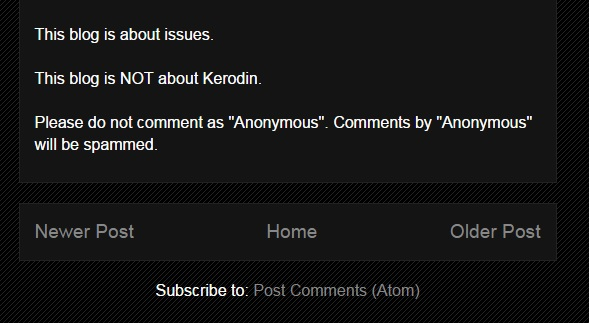 Kerodin's Disclaimer